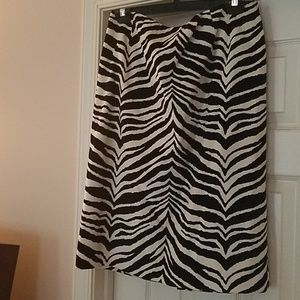 Talbots animal print black and white